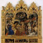 Adorazione dei Magi di Gentile da Fabriano dove Palla viene ritratto dall'artista in uno dei personaggi