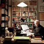 Scabia nel suo studio