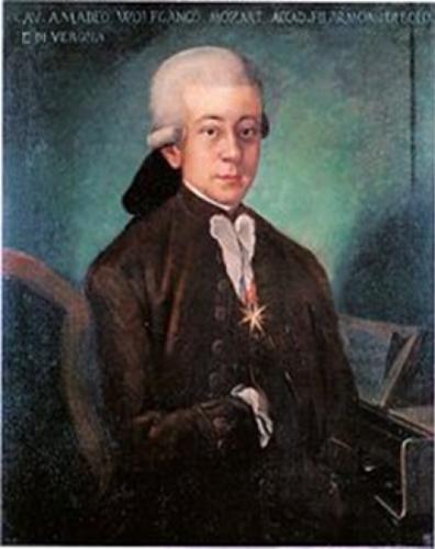 Ritratto di Wolfgang Amadeus Mozart Cavaliere dello Speron d'Oro, di anonimo, Civico Museo Bibliografico Musicale, Bologna