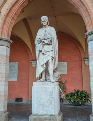 Statua di Dante, Padova Loggia Amulea