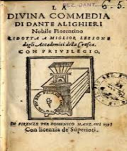 Divina Commedia, antica edizione