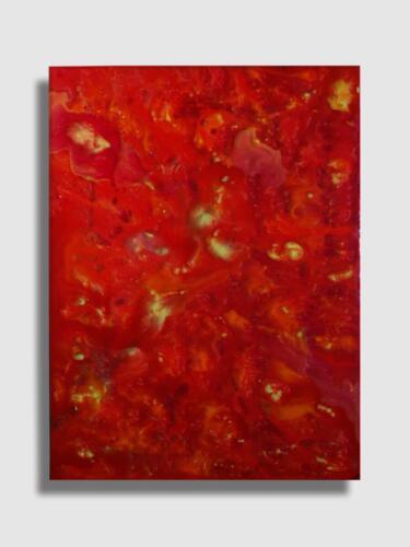 LORENZO VISCIDI BLUER, Fire – Incendio interiore, cm 80 x 60, inchiostri e resine su tela, 2020