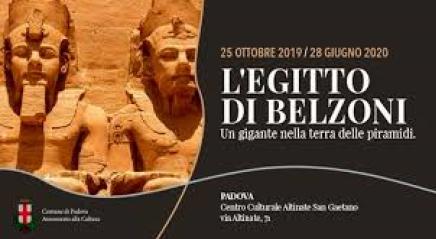 Locandina della mostra Padovana su Belzoni