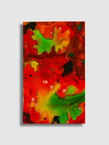 LORENZO VISCIDI BLUER, Passion, cm 60 x 40, inchiostri e resine su tela, 2020
