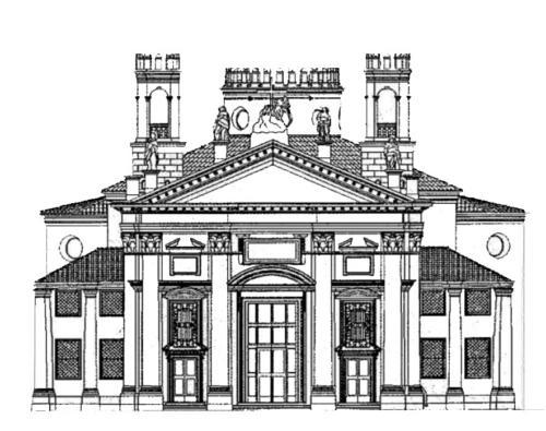 AF 05 Ricostruzione del progetto originario della facciata (La Chiesa della Madonna Addolorata detta del Torresino, C. Rebeschini)