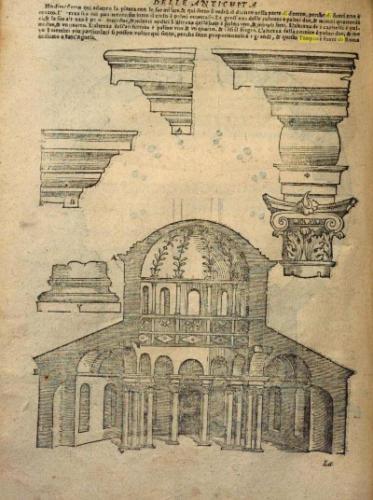 AF 09 Tempio di Bacco (Tutte l'opere d'architettura e prospettiva, Libro Terzo di S. Serlio, Venezia 1537 presso lo stampatore Francesco Marcolini)