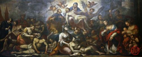 AF 19 Padova invoca la Madonna per la liberazione dalla peste (F. Onorati, 1691)