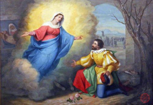 AF 20 Apparizione della Madonna a un artigiano (F. Suman, 1863)