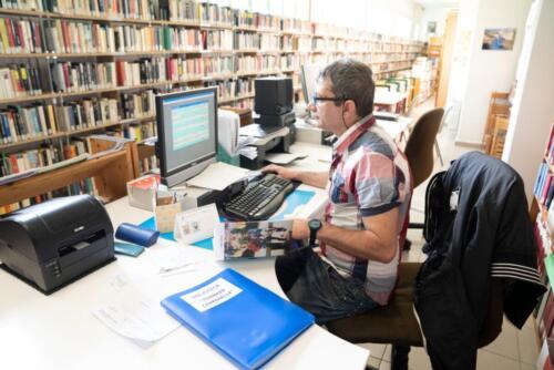 La biblioteca all'interno della Casa di Reclusione di Padova