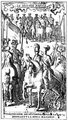 Antiporta dell'edizione di Ronciglione della Secchia Rapita (1624)