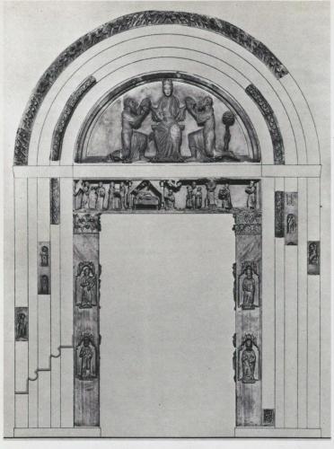 Fig. 10, Ricomposizione degli elementi costitutivi del portale