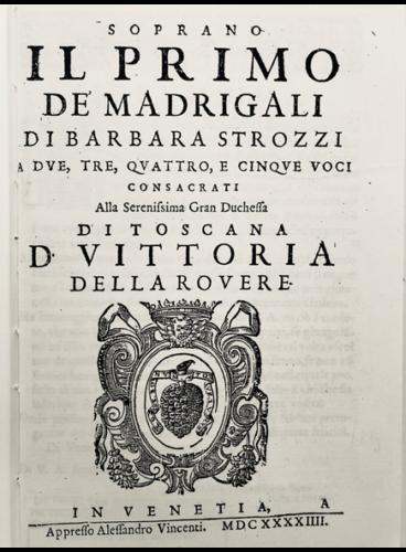 Madrigali, antica edizione