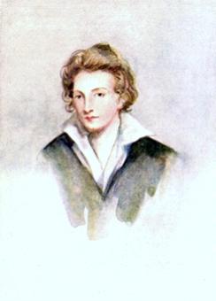 Ritratto di Percy B. Shelley (acquerello, 1822)