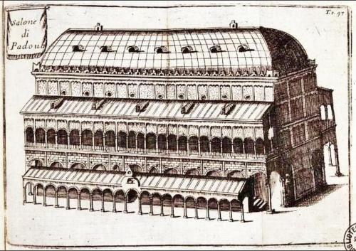 Il Palazzo della Ragione in una incisione di Vincenzo Maria Coronelli (1650-1718)