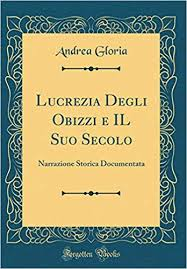 Frontespizio storia di Lucrezia degli Obizzi
