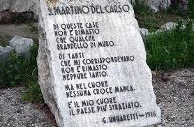 Stele con la poesia San Martino del Carso