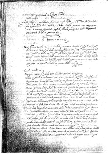 Il verbale originale, 1614