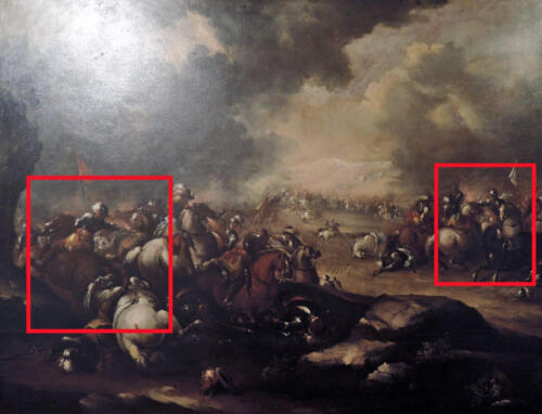 01 - Antonio Maria Marini, Battaglia di cavalieri. Musei civici agli Eremitani, Padova.
