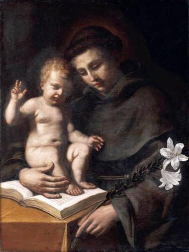 01 - Guercino, Sant'Antonio e Bambino