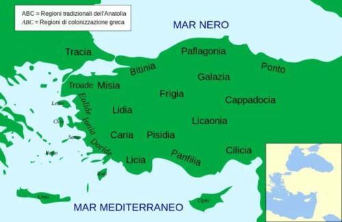 02 - Mappa delle antiche popolazioni della penisola anatolica (Credits Dr Zimbu, MinisterForBadTimes, CC BY-SA 4.0 via Wikimedia Commons)