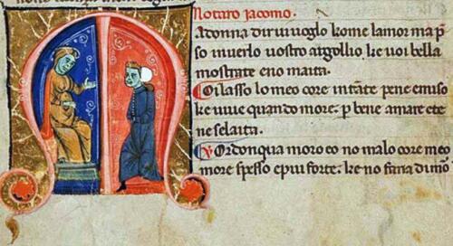 03 - Jacopo da Lentini, il Notaro (Fonte Palatino 418 - Biblioteca Nazionale Centrale di Firenze)