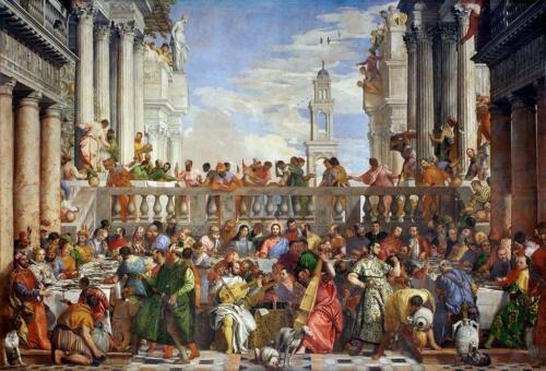 04 - Paolo Veronese, Le Nozze di Cana (Parigi, Museo del Louvre) - Pubblico dominio, https://commons.wikimedia.org/w/index.php?curid=160027