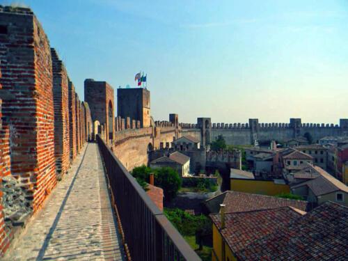 05 - Cittadella (Pd), Vista dal camminamento di ronda sulle mura