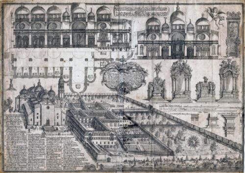 06 - Basilica e monastero di Santa Giustina in una stampa d'epoca