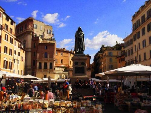 08 - Roma, La statua di Giordano Bruno in Campo dei fiori