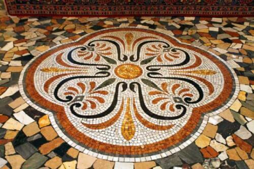 07 - Palazzo Zacco, particolare del pavimento del piano nobile