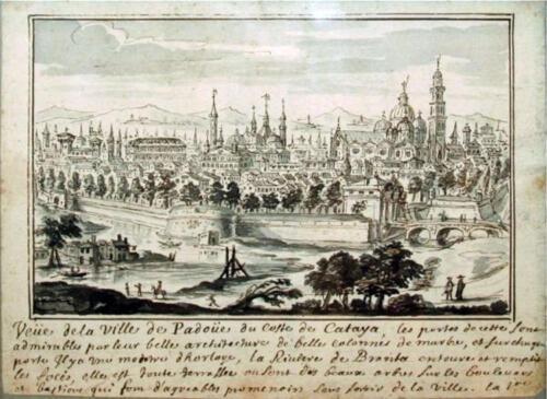 08 - Padova antica, (View of Padova, Pierre-Paul Savin (France 1640-1710)