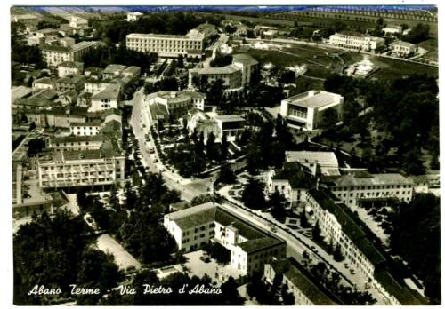 09 - Abano Terme Anni '50 (Pd), Veduta aerea via Pietro d'Abano