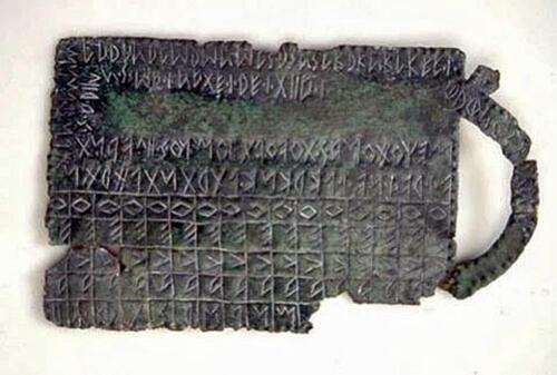 09 - Tavoletta alfabetica in bronzo, Museo Nazionale Atestino(www.marcadoc.com)
