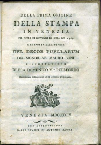 10 - Della prima origine della Stampa in Venezia