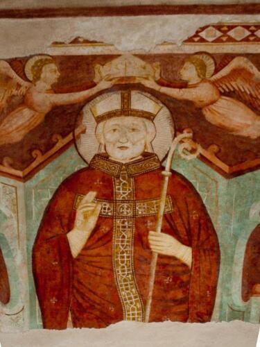 20 - Sant'Agostino, titolare della basilica nel cui ordine entrò il fondatore e primo priore del convento Giacomo di Cado