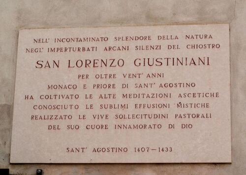 23 - Lapide a Lorenzo Giustiniani