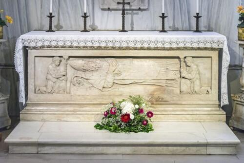 Fig. 06. Padova, Basilica di Santa Giustina, Sacello di Santa Maria, l'altare che ospita il corpo di San Prosdocimo (1)