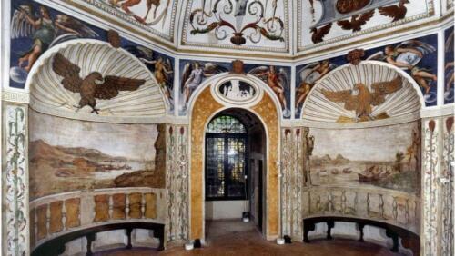 05 - Padova, Loggia e Odeo Cornaro - Particolare della sala ottagonale