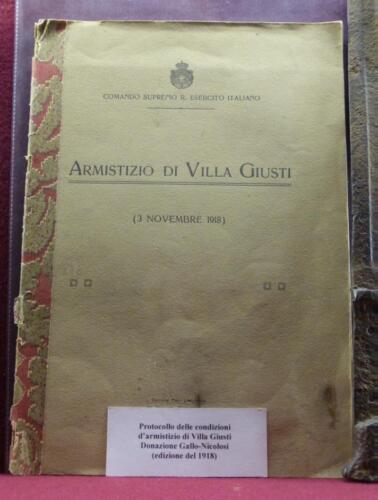 Protocollo Armistizio Villa Giusti